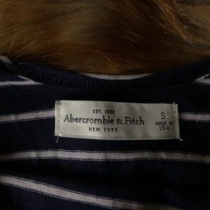 Abercrombie blue and white crop top!